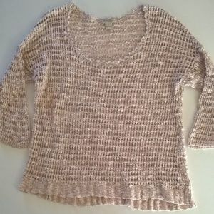 lucky brand sweater size large beige knit pullover